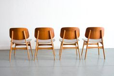 Danish modern teak Borge Mogensen dining chairs