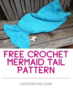 Make your little mermaid smile in this cute and cozy crochet mermaid tail blanket that is constructed like a bag. This crochet pattern features a shell stitch to resemble fish scales throughout the entire body. Intermediate crochet skills are recommended for this pattern. | Free Crochet Mermaid Tail Pattern from #LoveToKnow