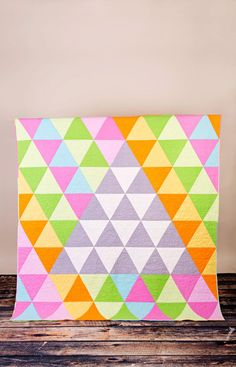 Twin or very large lap  70 x 74 geometric by CityQuilts on Etsy