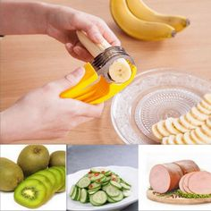 Graters Kitchen Tools Banana Slice Clip 304 Stainless Steel Fruit Cut Knife Evenly Hogard