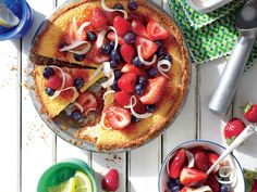 Whiskey Pie with Tipsy Berries | This simple pie is a whole lot tasty and just a little bit boozy. Want to take it up a notch? Use chocolate graham crackers for a decadent twist on the crust. Offer with a scoop of vanilla ice cream, and, to save time, you can simply top with a mix of your favorite fresh summer fruit.