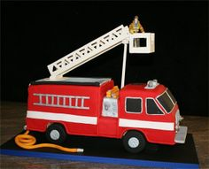 Firetruck Cake for Colton Fireman Sam Cake, Fireman Party, Fireman Birthday, Little Boy Cakes, Cakes For Boys, Olaf Frozen Cake, Fire Engine Cake, Fire Cake, First Birthday Cakes