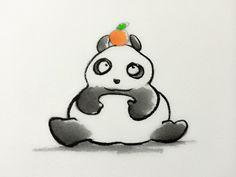 2014.1.11 【一日一大熊猫】 鏡餅の名前の由来は昔の鏡の形に似てるからだとか。 パンダが座っている様にも見えるなぁ。