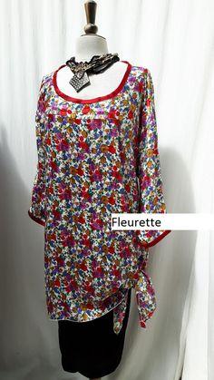 sylish and comfortable print tunic or dress..$68.00  di MsEmmaDesigns su Etsy