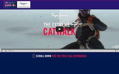 A parallax e-commerce that is the digital replica of the free fall catwalk we created to launch Pepe Jeans' Infiniti Red Bull Racing Collection.