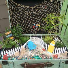 Blue Beach Fairy Garden Kit Large - Miniature Beach Garden Kit Fairy ...