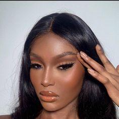 Black Girl Makeup, Girls Makeup, Makeup Black Women, Brown Makeup Looks, Makeup Tips, Beauty Makeup, Hair Makeup, Makeup Ideas, Makeup Eyebrows