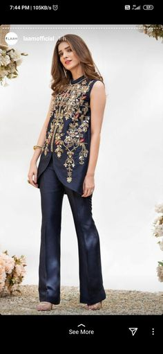 Bell Bottom Pants, Bell Bottoms, Dress For You, I Dress, Beauty Boost, Heavy Dresses, Pakistani Party Wear, Add Sleeves, Thread Work