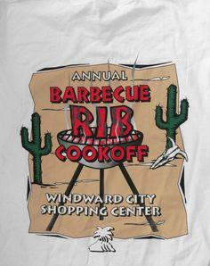 Barbecue Rib Cookoff Hawaii Cerebral Palsy T-shirt XL  #FruitoftheLoom #Tshirt