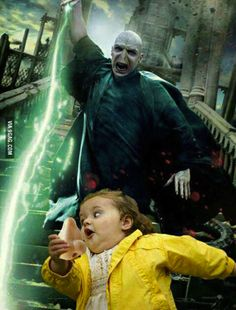 """Give me my nose back!"" - Voldemort"