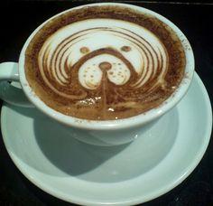 Latte art  http://www.theendearingdesigner.com/101-creative-coffee-latte-art-designs