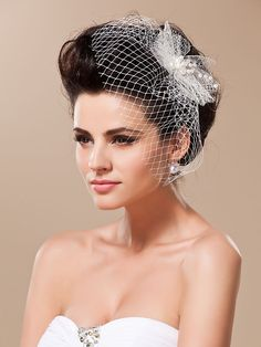 Wedding Veil One-tier Blusher Veils Birdcage Veils Cut Edge Tulle - USD $2.99 ! HOT Product! A hot product at an incredible low price is now on sale! Come check it out along with other items like this. Get great discounts, earn Rewards and much more each time you shop with us!