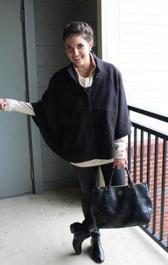 """How to wear a cape - European style - Euro chic - How 2 Wear It - """"How 2 Wear It"""" for any of life's occasions!How 2 Wear It 