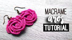 Aros de rosa » tutorial | como hacer | diy ● Earrings #121