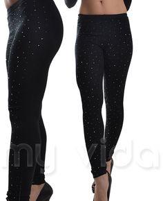 #Pantalone donna leggings #pantacollant #fuseaux #strass invernali