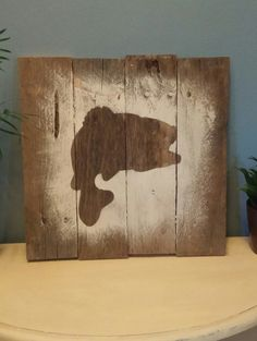Largemouth bass sign Father's Day gift Gift for by TrishaWatson