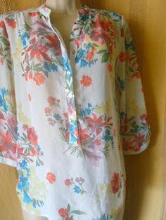 Brecho Online - Belas Roupas: Blusa Cortelle estampada