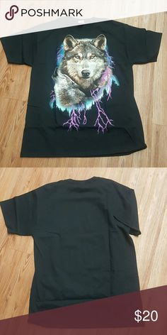 Wolf shirt mens or womens I just got all these bad ass wolf shirts They are brand new and I have all sizes Shirts Tees - Short Sleeve