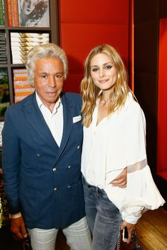 Olivia Palermo and Giancarlo Giammettil attend Bruno Astuto Book Launch 'La Legende de Paris' Cocktail Celebration at Librairie Assouline on July 4, 2016 in Paris, France.