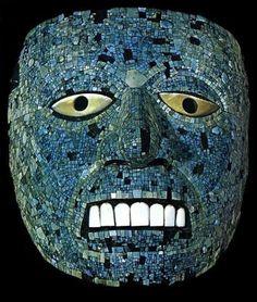 mascara de turquesa, arte prehispanico