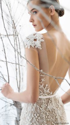 mira zwillinger bridal 2017 cap sleeves sweetheart illusion jewel neck beaded sheath wedding dress (lily) zbv vback                                                                                                                                                                                 More