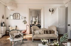 vintage home furnishings in paris apartment featured in milk decoration. / sfgirlbybay