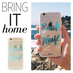 """Bring It Home: Beach Please Phone Case"" by polyvore-editorial ❤ liked on Polyvore featuring interior, interiors, interior design, home, home decor, interior decorating, Sonix and bringithome"