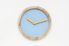 Wood Clock, Blue Clock, Wooden Clock, Blue Wall Clock, Wall Clock, Nursery Wall Decor, Nursery Clock