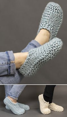 Cloud Slippers - Free Pattern - Free Knitting Pattern The Effective Pictures We Offer You About anello waterproof A quality pictur - Knit Slippers Free Pattern, Crochet Slipper Pattern, Knitted Slippers, Crochet Slippers, Knit Crochet, Easy Knitting, Knitting Socks, Knitting Patterns Free, Knit Patterns