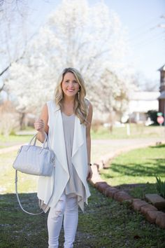 Spring Neutrals // How to Style a White Vest for Spring