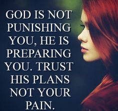trust His plans not your pain