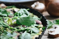 Chickpea Frittata with Spinach, Thyme and Peas   Veggi.es.