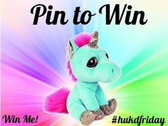 Adorable Unicorn up for grabs! Follow us on Pinterest and Repin one of our…