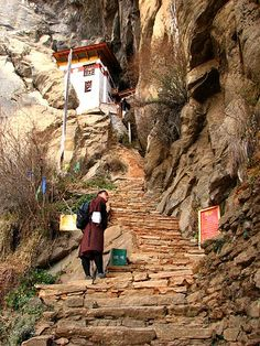 This will be me making the long climb to The Tigers Nest, Bhutan