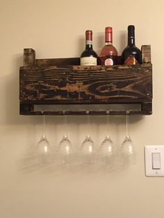 Wine rack by FarmwoodPallets on Etsy