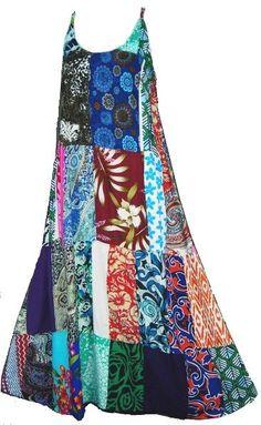 Gypsy Patchwork Lace-back Fest Dress