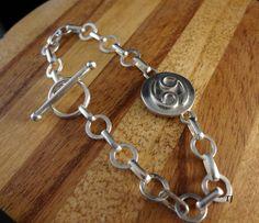 Cancer Zodiac Bracelet, Handmade, Solid 925 Sterling Silver, SZ- 7.5