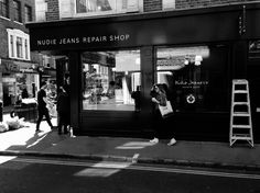 Nudie Jeans Repair Station | The Swedish denim brand open a new London store that not only sells new jeans, but repairs old ones.