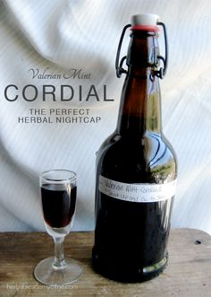Valerian Mint Cordial: An Herbal Nightcap recipe