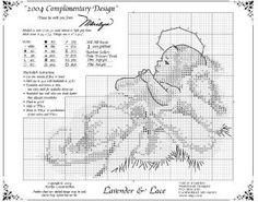 2004 Christmas Design Told in a garden - Cross stitch Baby Jesus.