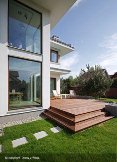 Z Klasą 1 - DOMY Z WIZJĄ My Dream Home, Dream Homes, Home Fashion, Architecture Design, Sweet Home, Sidewalk, Villa, Deck, Exterior