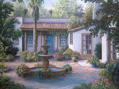 """""""Tucson Courtyard"""" by Barbara R. Felisky"""