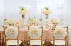 12 Ways to Add Rose Gold to Your Wedding Decor via Brit + Co.