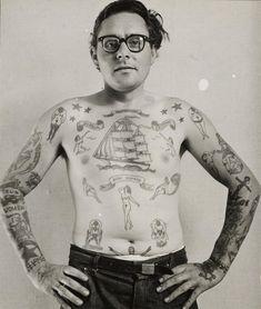 Sailor, Rotterdam, 1960s   Amsterdam Tattoo Museum   The collection of Henk 'Hanky Panky' Schiffmacher