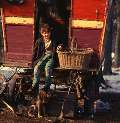 A Gypsy boy in Charlwood, Surrey, in the late 1960s by Tony Boxall