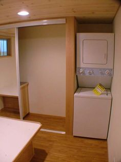 tiny house movement with smart laundry room storage