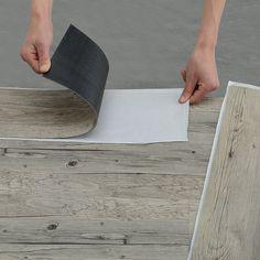 [neu.holz] Vinyl Laminat (1m²) Selbstklebend Eiche   Grau (