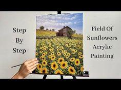 Field of Sunflowers Acrylic Painting