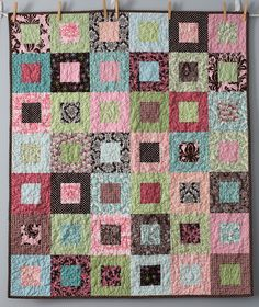 Squares In Squares Baby Quilt