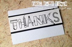 Teacher's Day Card | Kad Hari Guru Handmade Teacher's Day Card | Thank You, Teacher.